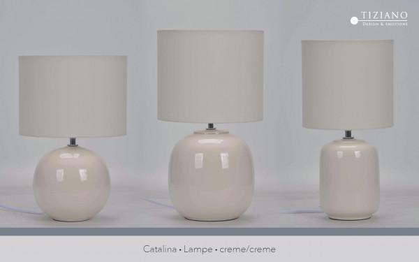Lampe Catalina creme von Tiziano