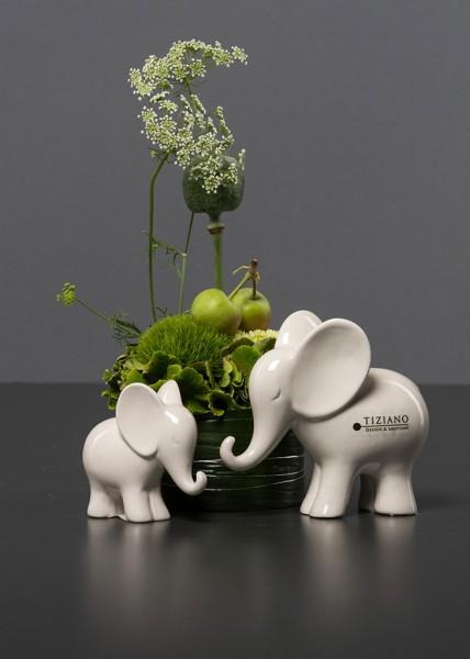 TIZIANO Dekoelefant Leon mini stehend creme