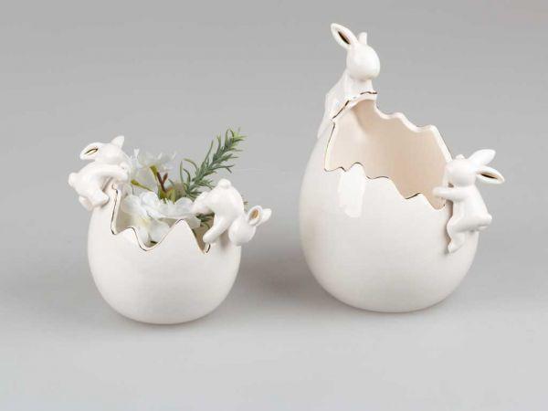Formano Hasen mit Kübel weiß-gold