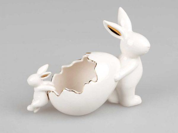 Formano Hasen mit Ei weiß-gold