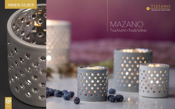 Tischlicht Mazano frost/silver von Tiziano