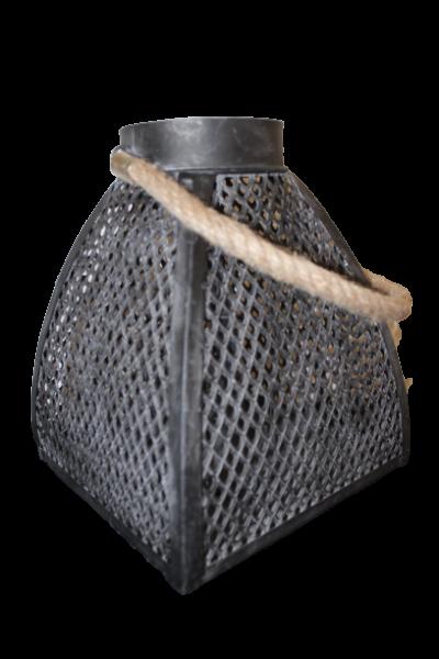 Metall Laterne Juma quadratisch anthrazit