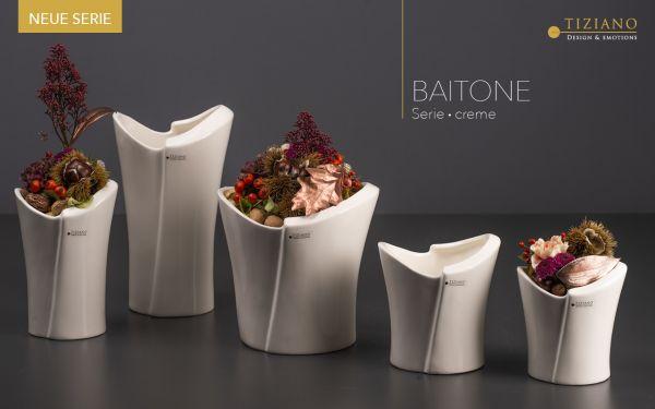 Kübel Baitone creme Blumentopf von Tiziano