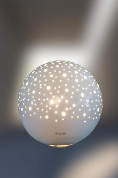 TIZIANO Lampe Padova rund weiß creme Art. 197012