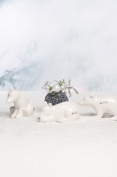 SET 3er Eisbär Bitonto weiß creme von Tiziano