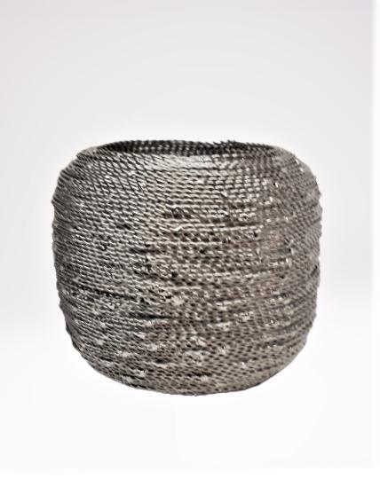Vosteen Metall Windlicht Wire nickel silber