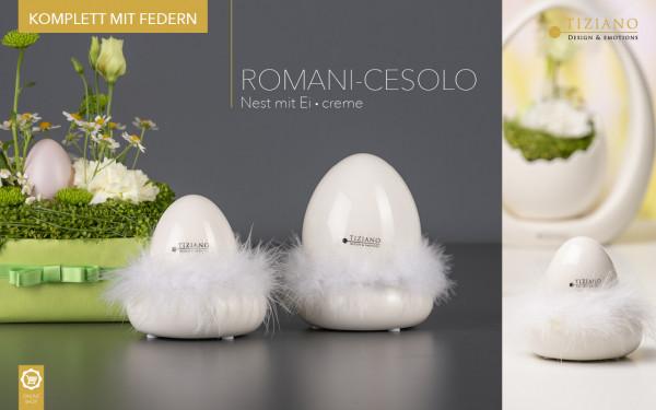 Tiziano Nest Romani mit Ei Cesolo Ostern