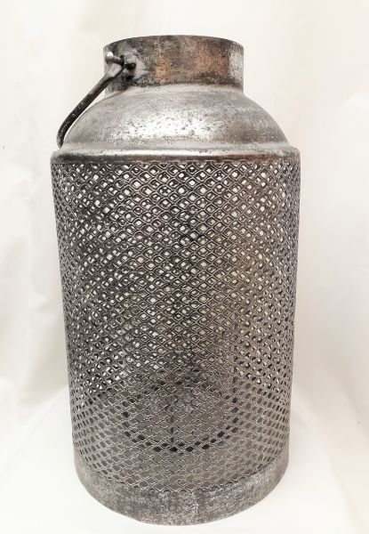 Metall Laterne Fully 49cm mit Henkel antik silber von Vosteen