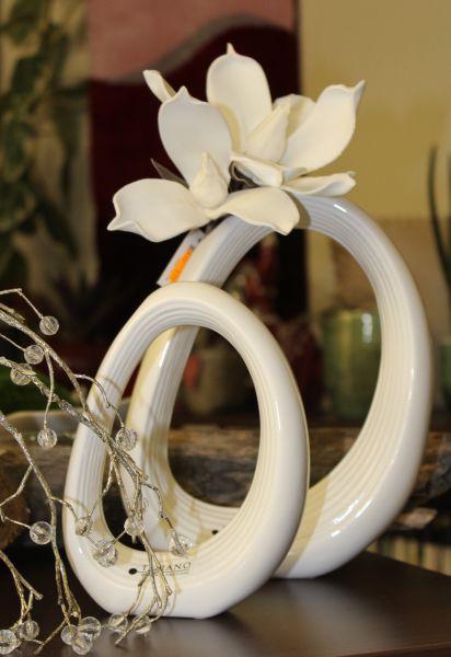 Tiziano Vase Anello oval creme