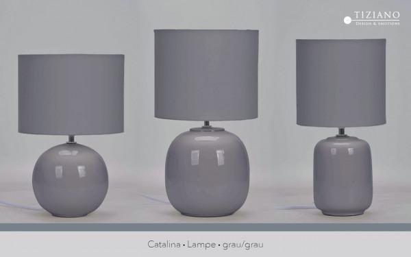 Lampe Catalina grau von Tiziano