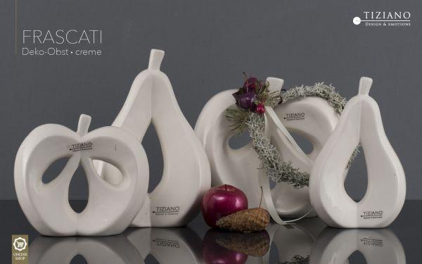 Tiziano SET 2er Apfel+Birne Frascati 22,5+24,5 cm creme